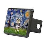 Starry-AussieTerrier2 Rectangular Hitch Cover