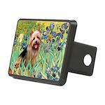Irises - Aussie Terrier Rectangular Hitch Cover