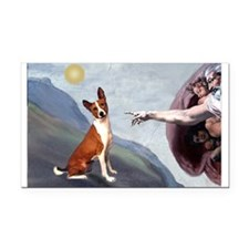 Creation of the Basenji Rectangle Car Magnet