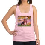 Basset in the Garden Racerback Tank Top