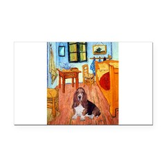 Room with a Basset Rectangle Car Magnet