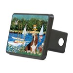 Sailboats & Basset Rectangular Hitch Cover