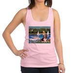 Sailboats & Basset Racerback Tank Top
