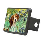 Irises & Beagle Rectangular Hitch Cover