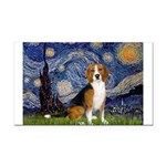 Starry Night & Beagle Rectangle Car Magnet