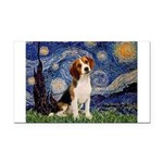 Starry Night / Beagle Rectangle Car Magnet