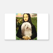 Mona / Bearded Collie #16 Rectangle Car Magnet