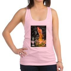 Fairies / Bearded Collie Racerback Tank Top
