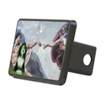 Creation / Bearded Collie Rectangular Hitch Cover