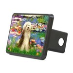 Lilies / Bearded Collie Rectangular Hitch Cover