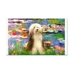Lilies / Bearded Collie Rectangle Car Magnet