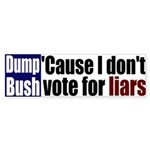 Dump Bush the Liar Bumper Sticker