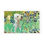 Irises /Bedlington T Rectangle Car Magnet