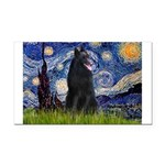Starry Night /Belgian Sheepdog Rectangle Car Magne