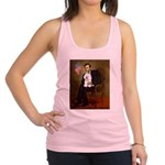 Lincoln & his Bichon Racerback Tank Top