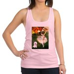 Ballet Dancer & Bichon Racerback Tank Top