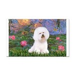 Lilies 4 / Bichon 1 Rectangle Car Magnet