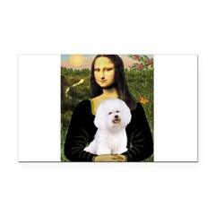 Mona's Bichon Rectangle Car Magnet