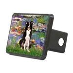 Lilies & Border Collie Rectangular Hitch Cover