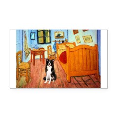 Room with Border Collie Rectangle Car Magnet