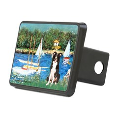 Sailboats & Border Collie Hitch Cover
