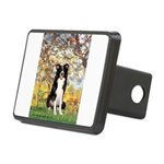 Spring & Border Collie Rectangular Hitch Cover
