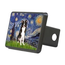 Starry Night Border Collie Hitch Cover
