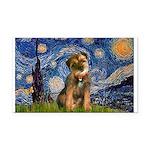 Starry Night / Border Terrier Rectangle Car Magnet