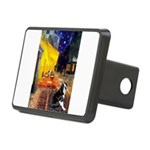 Cafe & Boston Terrie Rectangular Hitch Cover