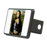 Mona & her Boston Ter Rectangular Hitch Cover