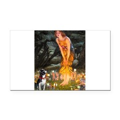 Fairies & Boston Terrier Rectangle Car Magnet