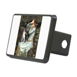 Ophelia & Boston Terrier Rectangular Hitch Cover