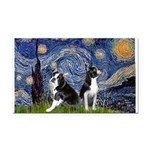 Starry Night & Bos Ter Rectangle Car Magnet