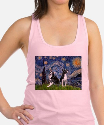 Starry Night & Bos Ter Racerback Tank Top