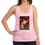 Seated Angel & Boxer Racerback Tank Top