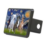 Starry / 3 Boxers Rectangular Hitch Cover