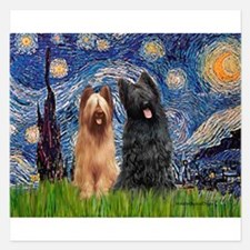 Starry - 2 Briards 5.25 x 5.25 Flat Cards