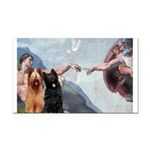 Creation / Briard Rectangle Car Magnet