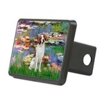 Lilies 2/Brittany Spaniel Rectangular Hitch Cover