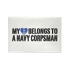 My Heart Navy Corpsman Rectangle Magnet
