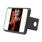 The Lady's Bull Terrier Rectangular Hitch Cover