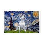 Starry/Bull Terrier (#4) Rectangle Car Magnet