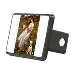 Windflowers Bull Terrier Rectangular Hitch Cover