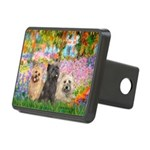 Garden/3 Cairn Terriers Rectangular Hitch Cover