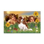 Angels & Cavalier Rectangle Car Magnet