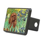 Irises & Ruby Cavalier Rectangular Hitch Cover