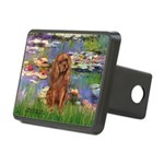 Lilies and Ruby Cavalier Rectangular Hitch Cover