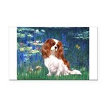 Lily Pond (#5) / Cavalier Rectangle Car Magnet