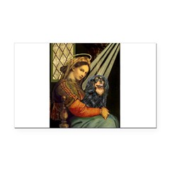 Madonna & Cavalier (BT) Rectangle Car Magnet