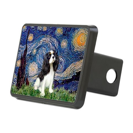 Starry Night Tri Cavalier Rectangular Hitch Cover